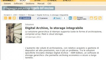 01net: articolo su Atempo Digital Archive