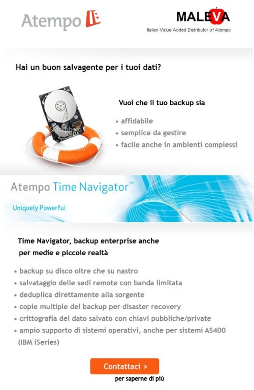 Atempo Time Navigator: Maleva Direct Email Marketing 1