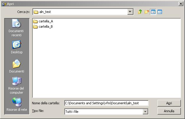 Live Navigator Restore di un file - Apri