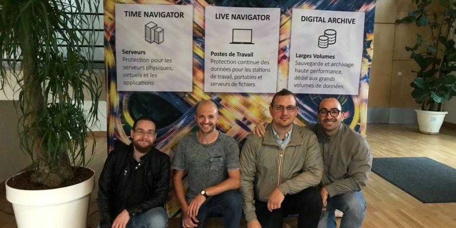 Il team tecnico Maleva: i fantastici 4 nella sede parigina Atempo