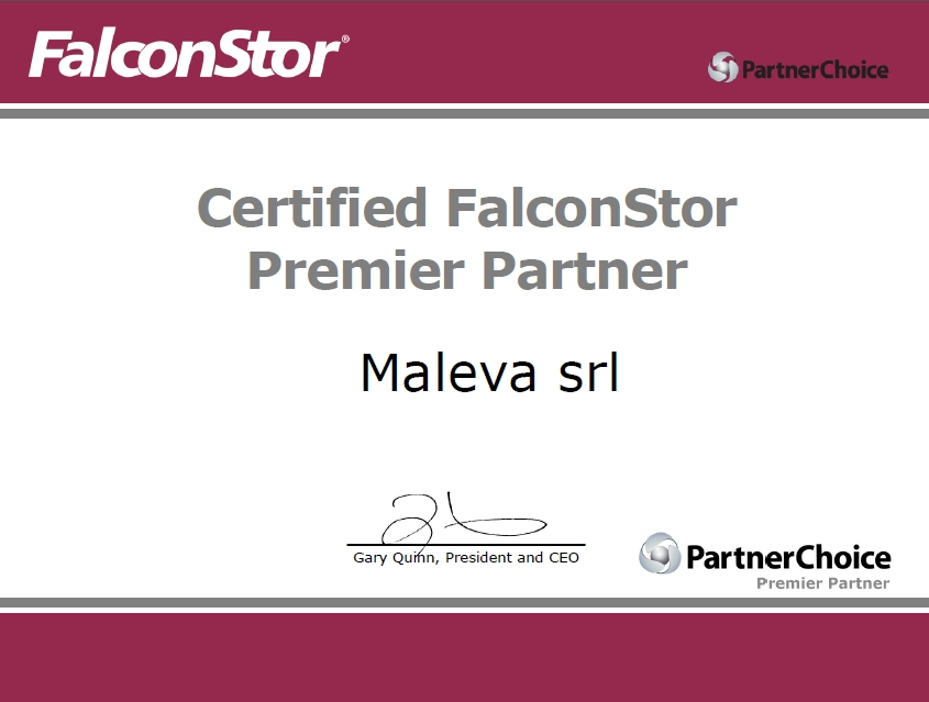 Maleva - certified FalconStor premier partner