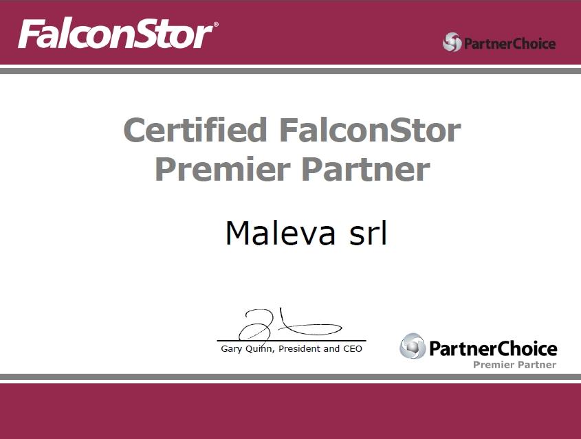 Maleva - certified FalconStor premier partner