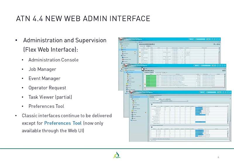 Webinar ASG Time Navigator 4.4.x - slide 2- web admin interface