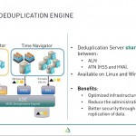 Webinar ASG Time Navigator 4.4.x - slide 4 - deduplication engine