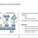 Webinar ASG Time Navigator 4.4.x - slide 4 - deduplication engine