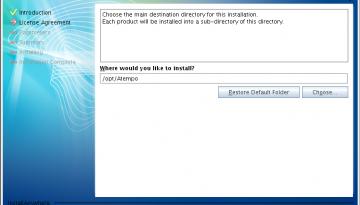 Live Navigator: Il percorso su disco dove verranno messi i vari file e directory di installazione.