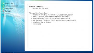 Live Navigator - verifica della configurazione dei parametri