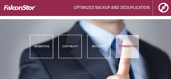 optimized backup and deduplication FalconStor