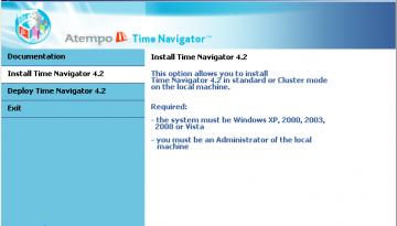 schermata di benvenuto - Time Navigator 4.2