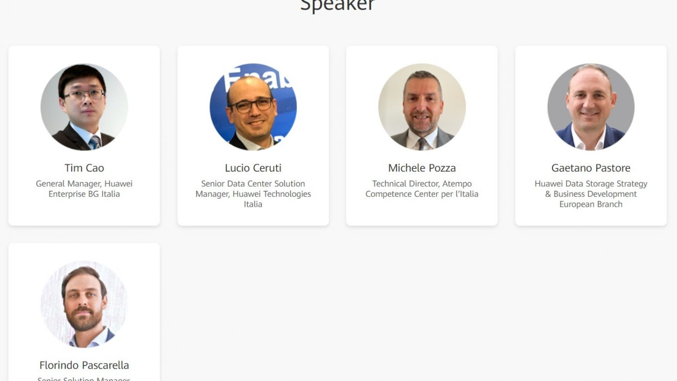 Huawai Italia IT Day - speakers - Michele Pozza